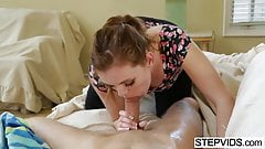 Stacey Leann caring for her stepbrother
