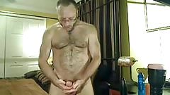Hairy muscle daddy bear with ass play