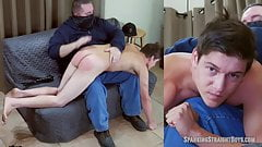 Straight Boy Gets His First Ever Spanking