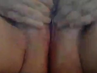 BBW shaved pussy cums and moans.