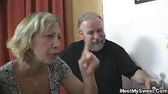 Czech blonde involved into threesome sex