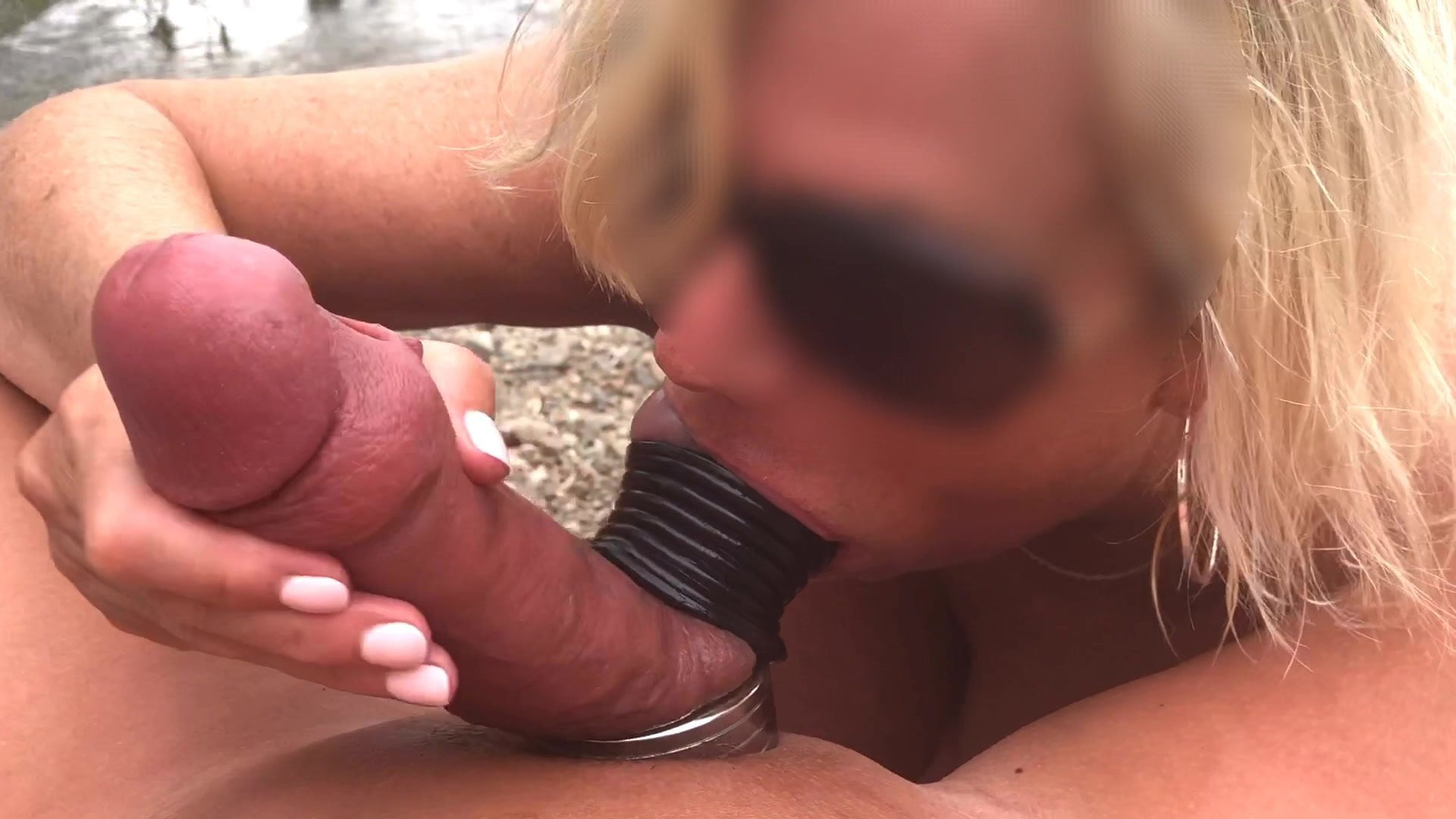 Suzy Sucks Balls At The Beach