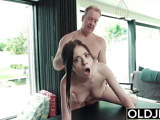 Hardcore Fuck For Teen Sucking cock swallows cumshot