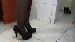 new heels for black slave