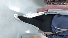 candid teen leggings friend shopping