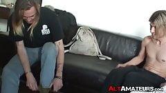 Blond alt boyfriends enjoy oral and jerk off session