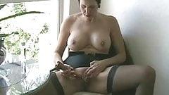 Mature in Stockings Masturbates Herself