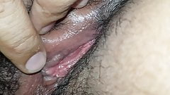 Close up hairy iranian wife