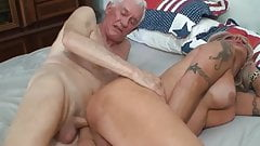Grandpa fucks Mature Shemale