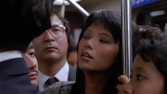 Asian girl fingered in the subway