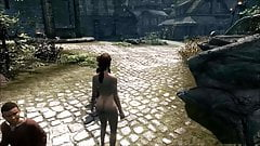 Elisif nude and helpless in Skyrim pt8