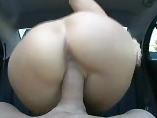 mature ride big cock in car
