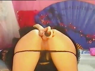Hot Babe Fucking Herself on Cam