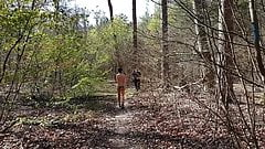 naked in the forest