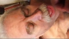 Old man love cocksucer... giving blowjob