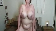 Sexy BBW mature with huge tits getting fucked