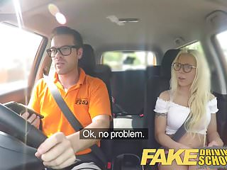 Preview 1 of Fake Driving School Stunning blonde gets deep creampie