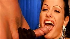 Beautiful Brunette Takes A Load Of Cum