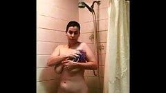 slut wife in shower