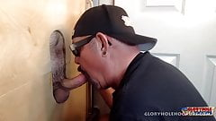 New Guy Gets Gloryhole Blowjob
