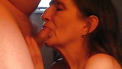 close up sucking off my husband cock swallow some & spilled