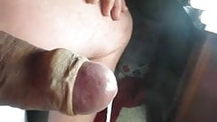 68 yrold Grandpa #146 mature cum close closeup wank uncut