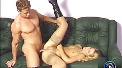 Alluring blonde Lenke anal fucked