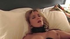 Cuckolds wife tied to bed and getting teased by BBC bull
