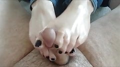 Consider, that Cute feet and footjob opinion