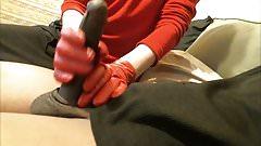 Red Glove Handjob