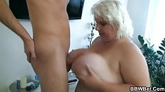 Huge titted BBW slut gets fucked hard