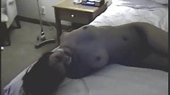 naked brunette hogtied on bed's Thumb