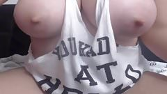 Busty Babe Milking Her Big Tits On Cam