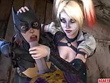 Sexy Arkham chicks fucked and blowing big cocks