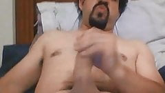 Very handsome macho jerking off playing with nipples 2