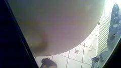 Hiden cam shower young girl