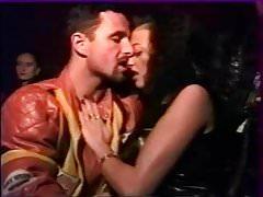 Amateur anal group sex in public cinema