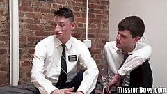 Young Mormon voyeur sees friends barebacking vigorously