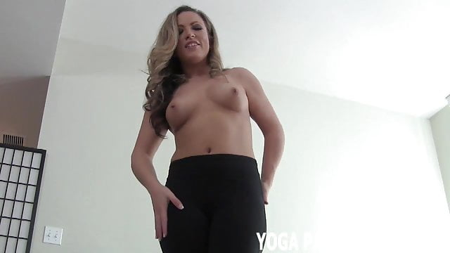 Preview 1 of I will tease you with my yoga pants while you jerk off JOI