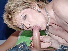 Mature pussy filled with young cock