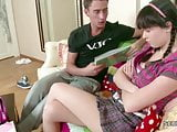 stepsis Want to Lost Virgin and Big Cock stepbro Helps Her