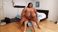 Exotic Ebony BBW Cotton Candi Loves Latino Cock