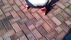 Thong Slip - Sexy girl in Calvin Klein Thong - Great :-)