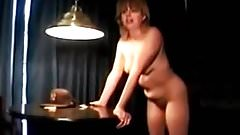 Cuckold MILF with her BBC bull Sissy husband cleans cum stai