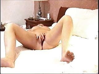 wife has some intense orgasms while masturbating home alone