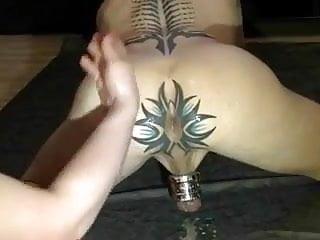 tattooed stud enjoys having his asshole fisted