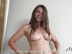 Povbitch - Busty Mona Lee suck cock to cum and swallow it
