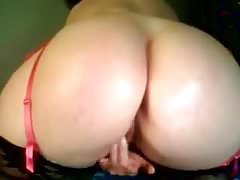 BBW camgirl huge ass dildo orgasm