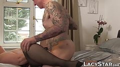 Nasty Lacey Starr slurps big cock before penetration's Thumb