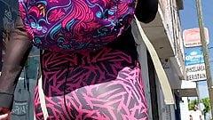 Pink Black Leggings . Booty 2